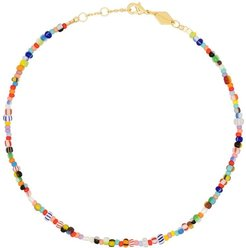 18kt gold-plated Petit Alaia anklet - Blue