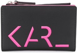 Karl Legend bi-fold card holder - Black