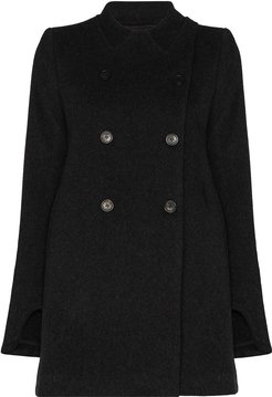 double-breasted short peacoat - Grey
