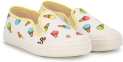 ice cream low-top sneakers - White
