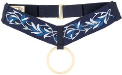 Kew embroidered collar - Blue