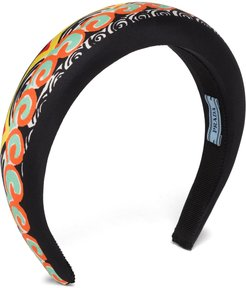 patterned headband - Black