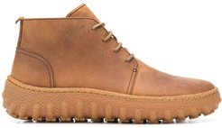 Ground lace-up boots - Brown