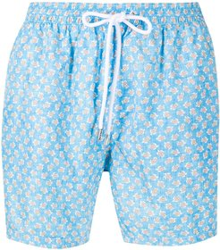 drawstring swim shorts - Blue