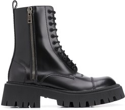 Tractor 20 mm lace-up boots - Black