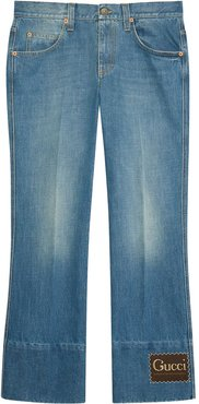 straight-leg denim jeans - Blue
