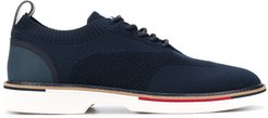 knitted lace-up hybrid shoes - Blue