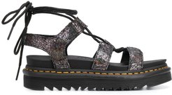 wrapped ankle sandals - SILVER