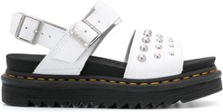 studded chunky sandals - White