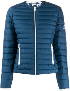 fitted padded jacket - Blue