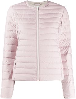 fitted padded jacket - PINK