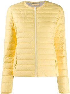 fitted padded jacket - Yellow