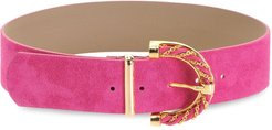 adjustable buckled belt