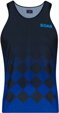 Elite Race logo-print vest - Blue