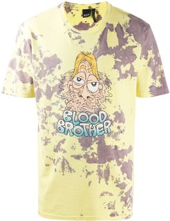 Melted print T-shirt - Yellow