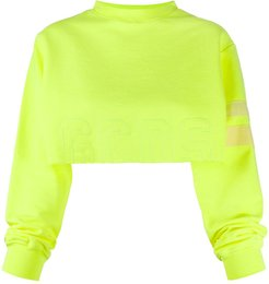 cropped varsity logo jumper - Yellow