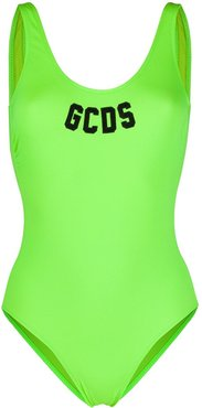 varsity logo swimsuit - Green