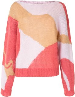 abstract print jumper - Multicolour