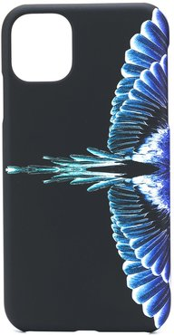 wing print iPhone 11 cover - Black