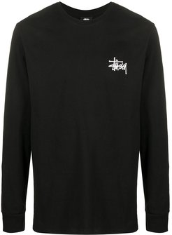 logo-print long-sleeved T-shirt - Black