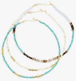 gold-plated beaded necklace set