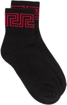 Greca cuff socks - Black