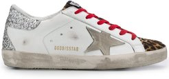 Superstar leopard-print sneakers - White