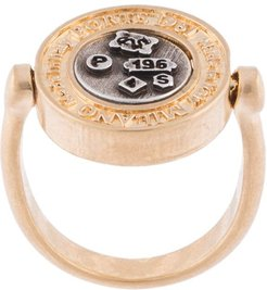 two-tone embossed ring - GOLD