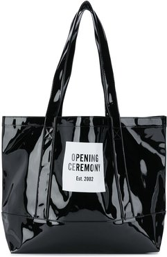 medium Box Logo tote bag - Black