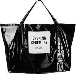 giant Box Logo tote bag - Black