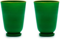opaque finish glasses (set of 2) - Green