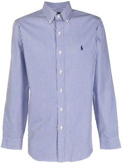 long sleeve poplin shirt - Blue