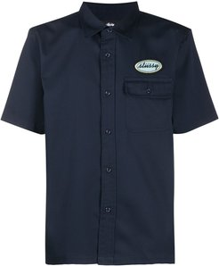 short-sleeved logo shirt - Blue