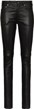 leather skinny trousers - Black