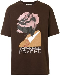 graphic print T-shirt - Brown