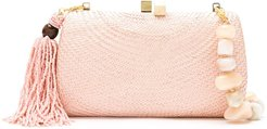 wicker Beach clutch bag - PINK