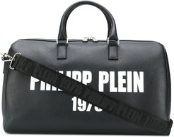 medium logo print holdall - Black