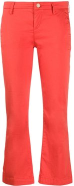 cropped flared trousers - ORANGE