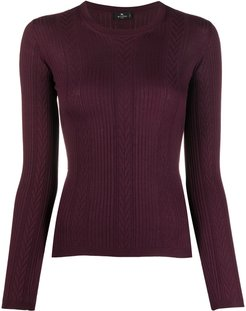 panelled fitted pullover - Red