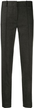 piped trim slim trousers - Grey