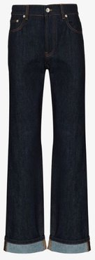 loose fit stretch denim jeans