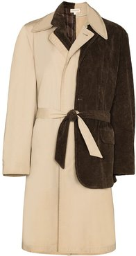layered trench coat - Neutrals