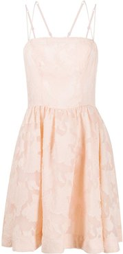 lace flared dress - PINK