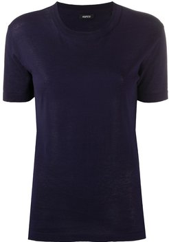 short sleeved knitted top - Blue