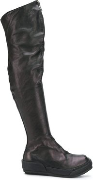 zipped-up boots - Black