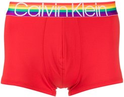 rainbow logo boxers - Red