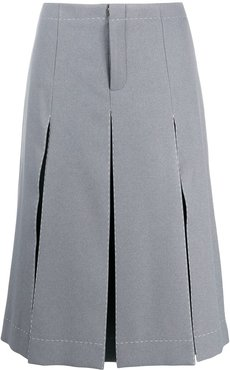 pleated skirt front shorts - Grey