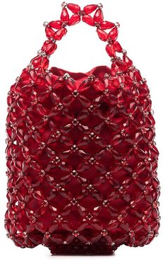 x Browns 50 beaded mini tote - Red