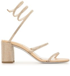 Cleo mid-heel sandals - GOLD