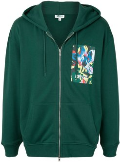 x Vans floral-print zip-up hoodie - Green